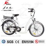 """26 """" elektrisches Fahrrad der Aluminiumrahmen-weißes Stadt-36V (JSL038Z)"""