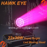 2018 heißes Verkauf B-Auge 22X30W RGBW 4in1 bewegliches Hauptlicht des Falke-Augen-LED