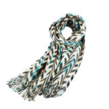 Acrilico stampato abitudine e sciarpa mescolata lane per la signora