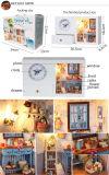 Casa de muñeca de madera de Dream DIY de princesas con el reloj