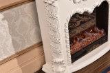 LED (338)が付いている電気暖炉を熱する旧式なホーム家具