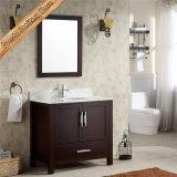 Шкаф тщеты ванной комнаты шкафа ванны твердой древесины Fed-1045b Mahogny