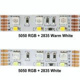 5050RGB/2835W 12V 두 배 줄 LED 테이프 빛