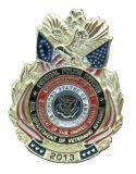 La policía de encargo del metal del esmalte de la insignia de la dimensión de una variable Badge