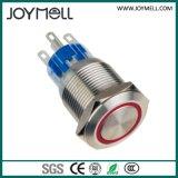 Bouton poussoir électrique en métal 1no 1nc de qualité de la CE