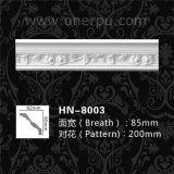 Cornisa de la PU que moldea para el moldeado de corona casero del poliuretano de la decoración Hn-8003