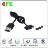 conetor 2pin cobrando magnético com o conetor de cabo magnético do USB
