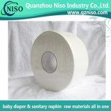 100% натуральные Jumbo Frames рулон бумаги для производства Diaper ткани с SGS (HG-034)