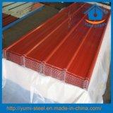 Feuillards en acier de revêtements de toit/mur de couleur ondulée de matériau de construction