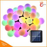 LED luces de la cadena de 50 Bolas de Energía Solar de la luz de las decoraciones de Navidad