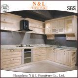 N & L gabinetes de cozinha da madeira contínua do Tulipwood para America do Norte