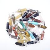Slingers van de Charmes van de Halsband van de Kleur van Mulit van de Tegenhangers van de Steen van de Vorm van de kogel de Natuurlijke