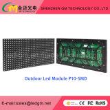 Luminosidad fuerte P10 SMD / DIP Pantalla LED de exterior para publicidad audiovisual
