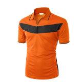 T-shirt court ordinaire orange de polo de chemise d'OEM d'homme en gros