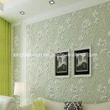 Wallpaper de lujo clásico Decoración de pared de bambú Tejido Dormitorio de hotel Sala de estar Peper