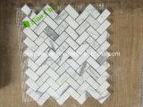 Mosaico di superficie spaccato delle mattonelle della parete del marmo di legno antico nero per la decorazione
