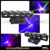 Lumière principale mobile de faisceau de l'éclairage 5X12W RGBW 4in1 DEL de la disco DEL d'étape