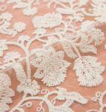 Cordón lateral doble del algodón del bordado de la flor