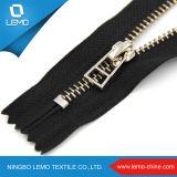Venda Por Atacado Original Zipper Fabricante Gold Metal Zipper