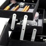 Neuer Entwurfs-weißer kosmetischer Arbeitsweg-tragender Fall mit starkem schwarzem Aluminiumrahmen
