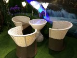 Jeux en osier de meubles de rotin de patio de portée de sofa de restaurant de patio de rotin extérieur de PE