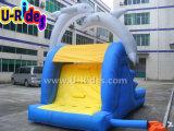 ホーム使用の販売のための膨脹可能なイルカ水スライドの膨脹可能な警備員のスライド