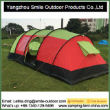 6 pessoas 210t Ripstop Polyester Tafetá Outdoor Tube Family Tent