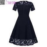 Neuer Entwurfs-neues Produkt modernes A - Zeile kurzes Brautjunfer-Kleid L36173-3
