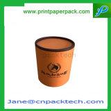 カスタム堅い塗被紙の上および底ふたボックス円形の茶包装のギフト用の箱
