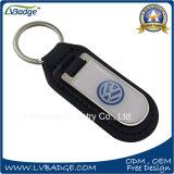 Anello portachiavi su ordinazione di marchio di marca dell'automobile del cuoio del metallo