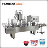 2 de vullende Hoofd Verzegelende Machine van de Kop voor Yoghurt