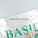 Luvas de empacotamento da planta de potenciômetro do saco de plástico do alimento dos tomates do saco do wicket do violoncelo do Trapezoid