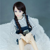 128cm japanische Geschlechts-Puppe EinCup flache Brust-Größengleichsilikon-Geschlechts-Puppe