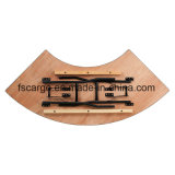 5.5 pi X Tableau de banquet se pliant en bois serpentin de 2 pi (CGT1622)