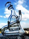 Tubulação de água de vidro de fumo colorida de Handblown do Borosilicate verde e preto de 11 polegadas
