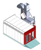 Alta cabina de aerosol Required del coche con control automático