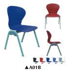 Populärer Plastiktrainings-Stuhl mit Schreibens-Vorstand und Bücherschrank