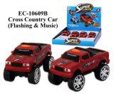 Nuevo juguete del coche policía de Flahing y de la música