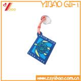 PVC와 실리콘 Keychain 둥글 모양 연약한 관례 (XY-HR-84)