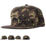tampão do chapéu do Snapback da coroa camuflar do algodão do bordado 3D com logotipo personalizado OEM