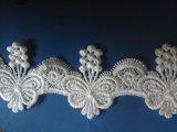 Nuovo merletto della guarnizione di Soluable dell'acqua del ricamo della farfalla delle azione di larghezza di 5.3cm per i vestiti delle ragazze & accessori dell'indumento & assestamenti & Placemats