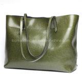 新しい方法革肩のハンド・バッグの女性大きい容量の革ショッピングハンドバッグ