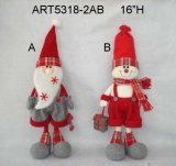 "Décoration de Noël 22 ""H Santa et Snowman Self Sitter Craft-2astst"