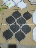 Мозаика плитки стены черного стародедовского деревянного мрамора Split поверхностная для украшения