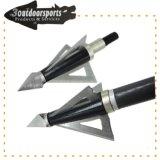 Correction de 3 lames de tête large tête de couleur noire de haute qualité pour les jeux de chasse au tir à l'arc
