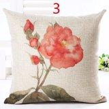 Красного цветка крышку подушки текстильной печати выбрасывайте крышку подушки сиденья
