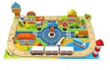 Brinquedo de madeira novo do bloco de cidade da trilha da forma 118PCS para miúdos e crianças