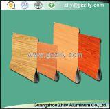 Techo de aluminio del grano del goteo de madera del agua para la decoración al aire libre