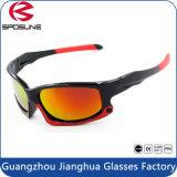 O revestimento polarizado da tira da lente do PC dos óculos de sol da forma frame preto ostenta vidros