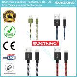 Los datos trenzados del USB del micr3ofono del nuevo nilón ayunan cable de carga para el iPhone 7/6/5